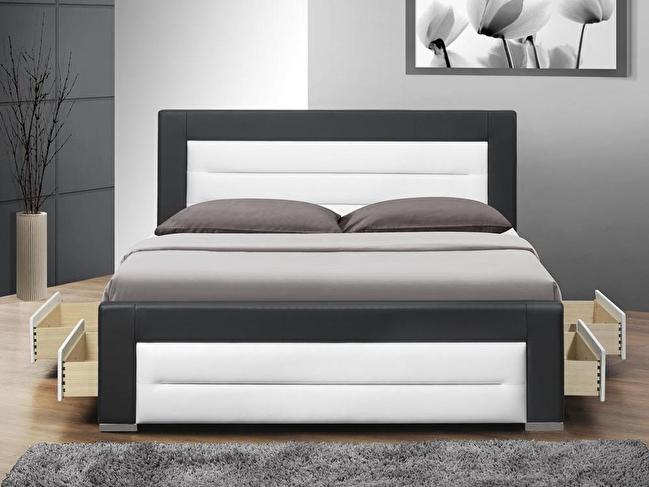 Manželská postel 160 cm - Tempo Kondela - Nazuka (s roštem) *masážní přístroj ZDARMA