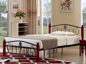 Manželská postel 140 cm - Tempo Kondela - Magenta (s roštem)