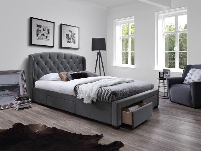 Manželská postel 160 cm - Halmar - Sabrina (s roštem)