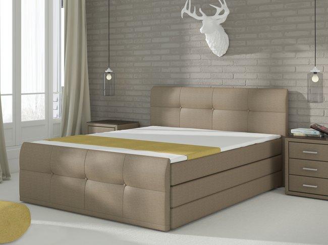 Manželská postel Boxspring 180 cm - Renar - Palermo (s matracemi a úl. prostorem)