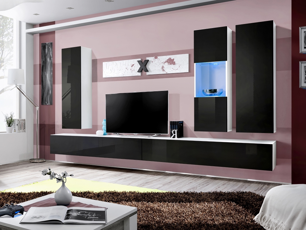 Obývací stěna - ASM - AIR E - 25 WS AI E5 (s osvětlením)