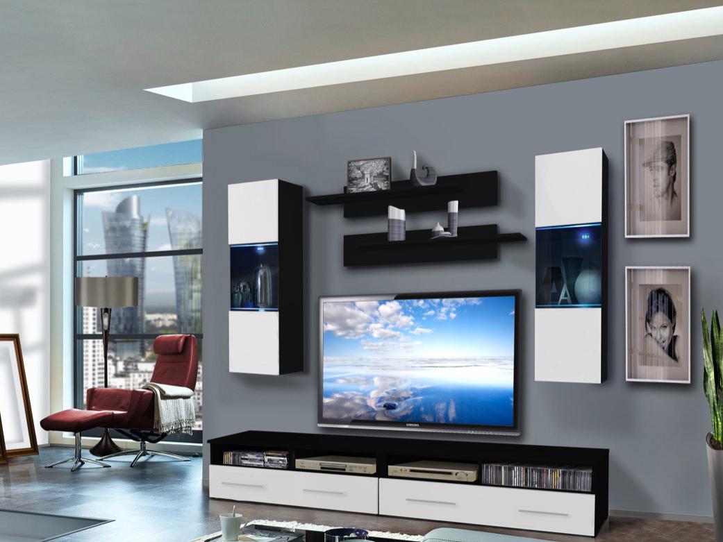 Obývací stěna - ASM - Clevo - 25 ZW CL C2 (s osvětlením)