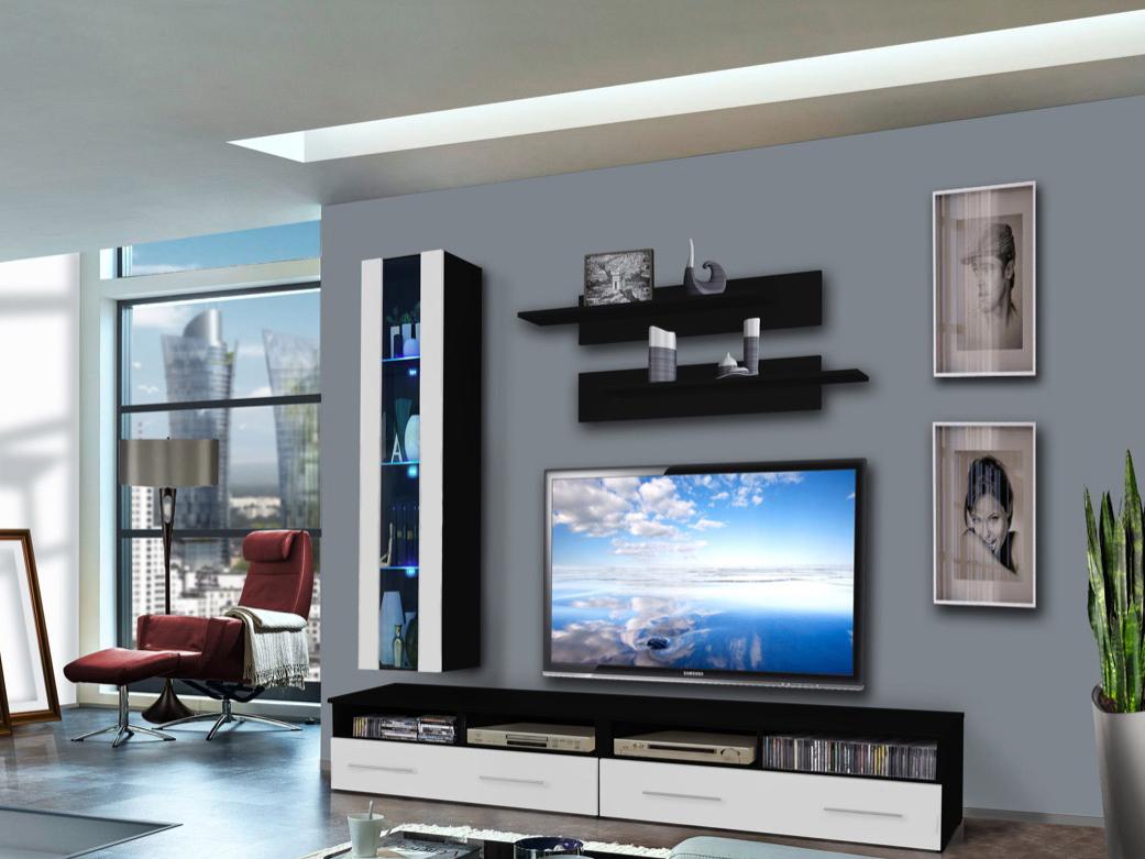 Obývací stěna - ASM - Clevo - 25 ZW CL E1 (s osvětlením)