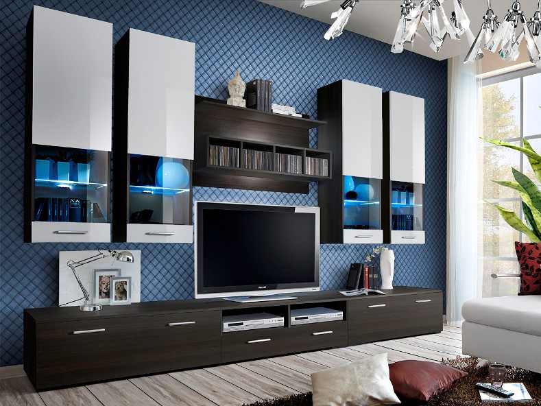 Obývací stěna - ASM - Dorade - 20 EMW DO (s osvětlením)