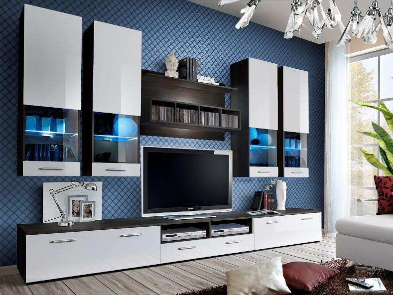 Obývací stěna - ASM - Dorade - 20 EMWW DO (s osvětlením)