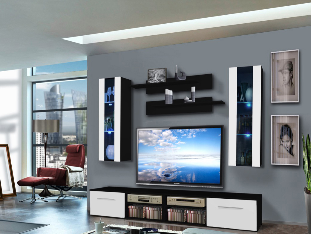 Obývací stěna - ASM - Invento - 25 WS IN B2 (s osvětlením)