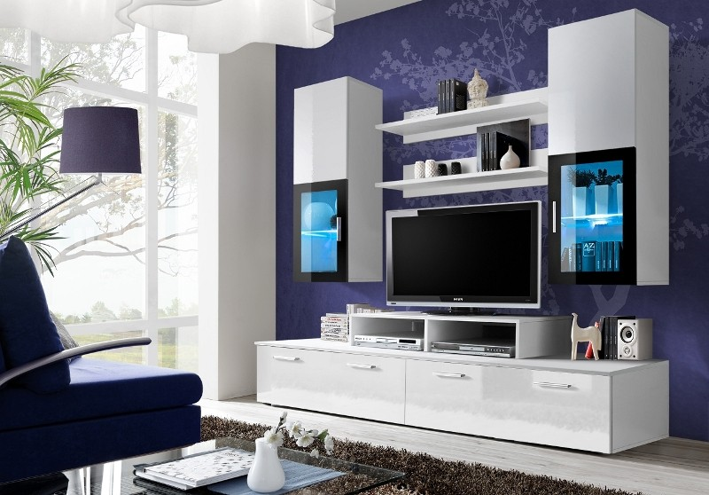 Obývací stěna - ASM - Mini - 23 WS MI (s osvětlením)