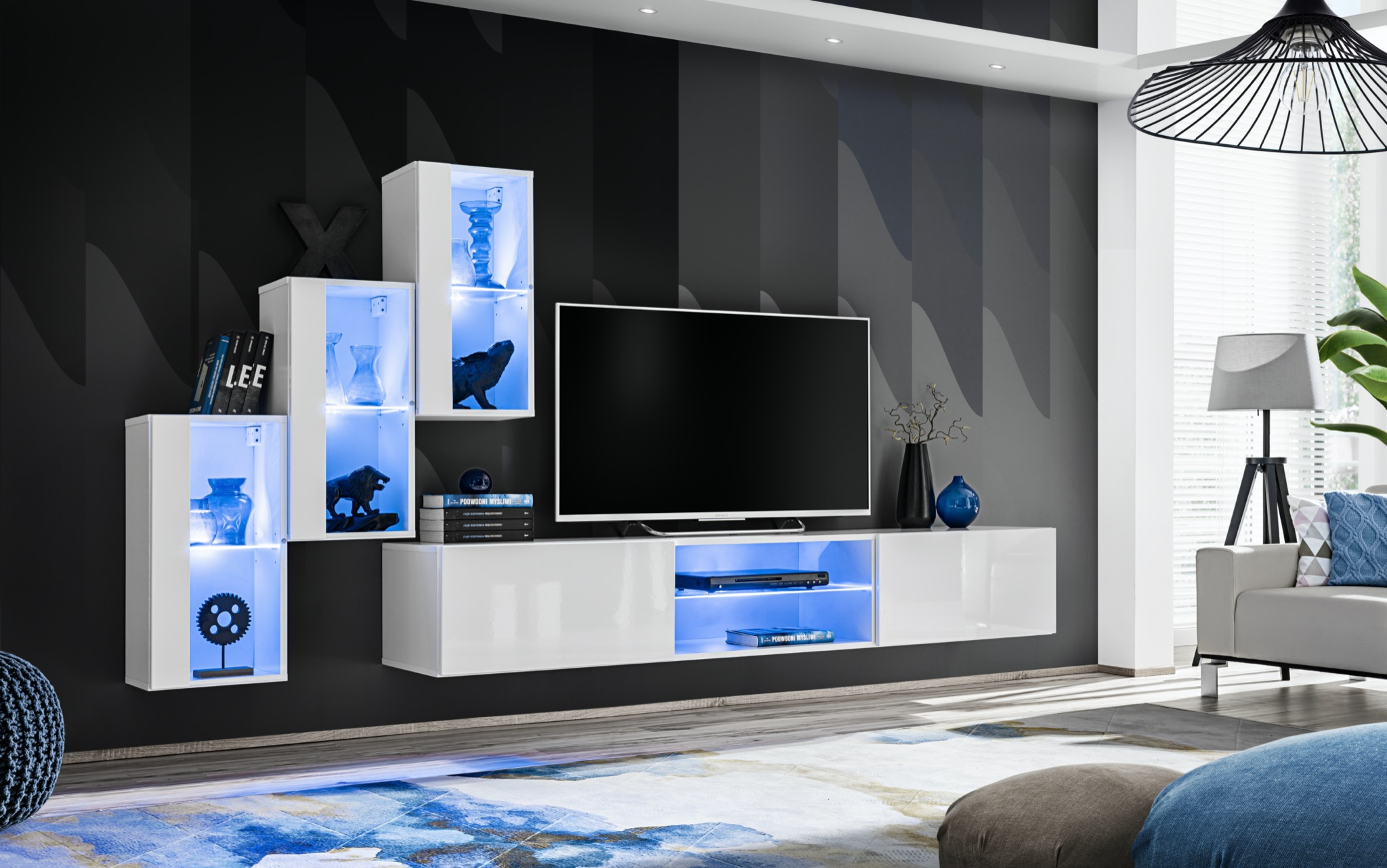Obývací stěna - ASM - Shelly 26 WW SW 22 (bílá matná + bílá lesklá)