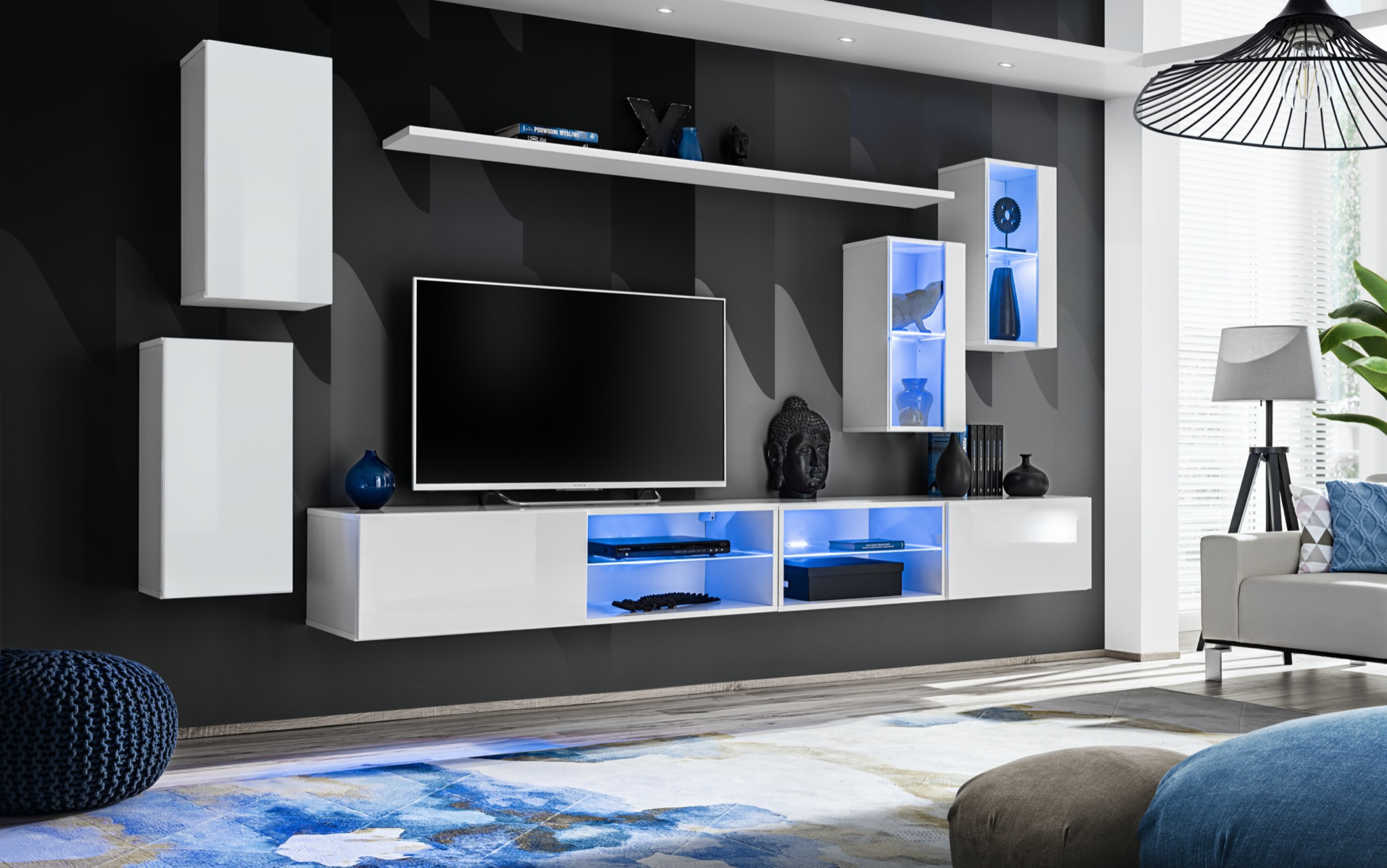 Obývací stěna - ASM - Shelly 26 WW SW 25 (bílá matná + bílá lesklá)