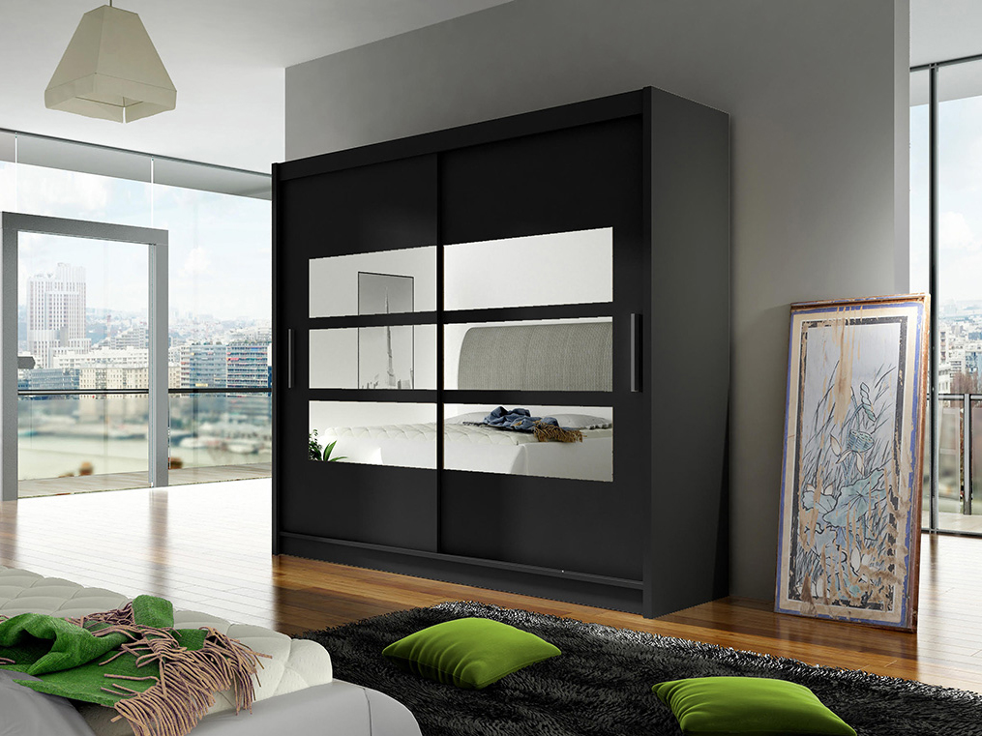 Šatní skříň - Ankon - Bega III černá