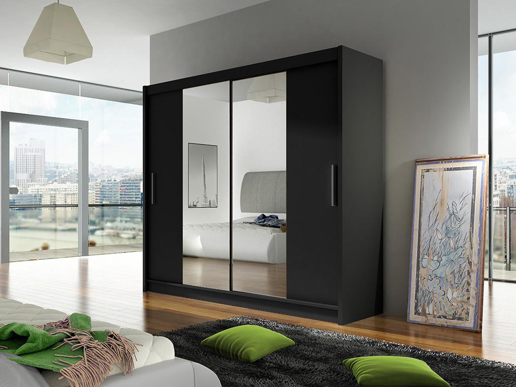 Šatní skříň - Ankon - Bega II černá