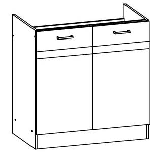 Spodní kuchyňská skříňka pod dřez - Bog Fran - Eliza - EZ17 D80Z