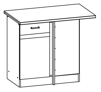 Spodní kuchyňská skříňka, rohová - Bog Fran - Eliza - EZ18 D100NW