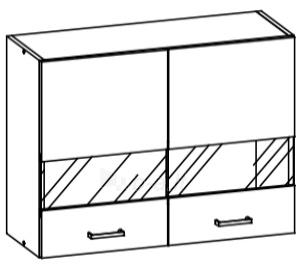 Horní kuchyňská skříňka - Bog Fran - Eliza - EZ6 G80W