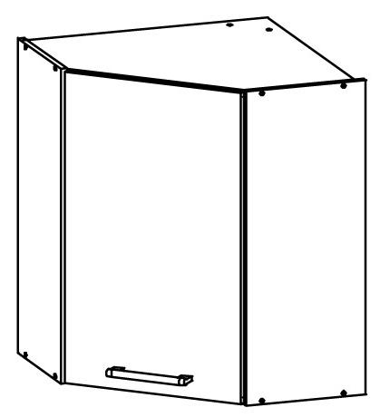 Horní kuchyňská skříňka, rohová - Bog Fran - Modena - MD10 G60 NW