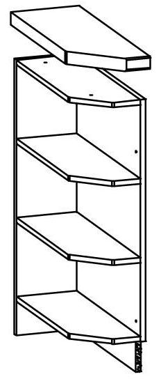 Spodní kuchyňská skříňka, rohová - Bog Fran - Modena - MD11 D20 NZ