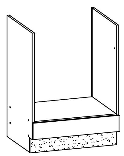 Spodní kuchyňská skříňka na troubu - Bog Fran - Modena - MD17 D60P