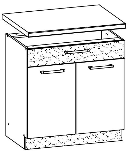 Spodní kuchyňská skříňka pod dřez - Bog Fran - Modena - MD19 D80Z