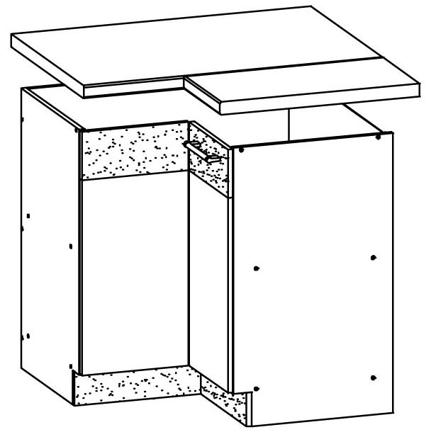 Spodní kuchyňská skříňka, rohová - Bog Fran - Modena - MD21 D90 NW