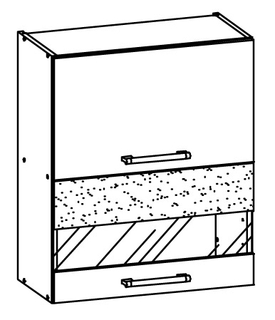 Horní kuchyňská skříňka - Bog Fran - Modena - MD8 G60W
