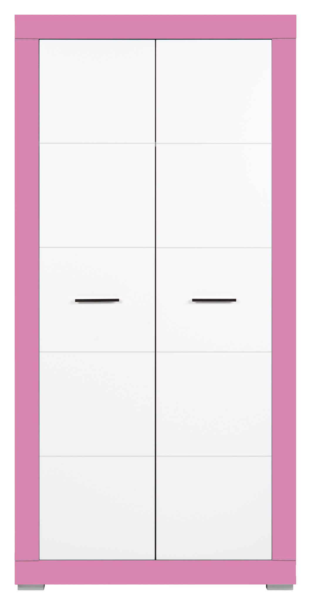 Šatní skříň - Bog Fran - Twin - TW 9 (fuchsie + bílá matná)