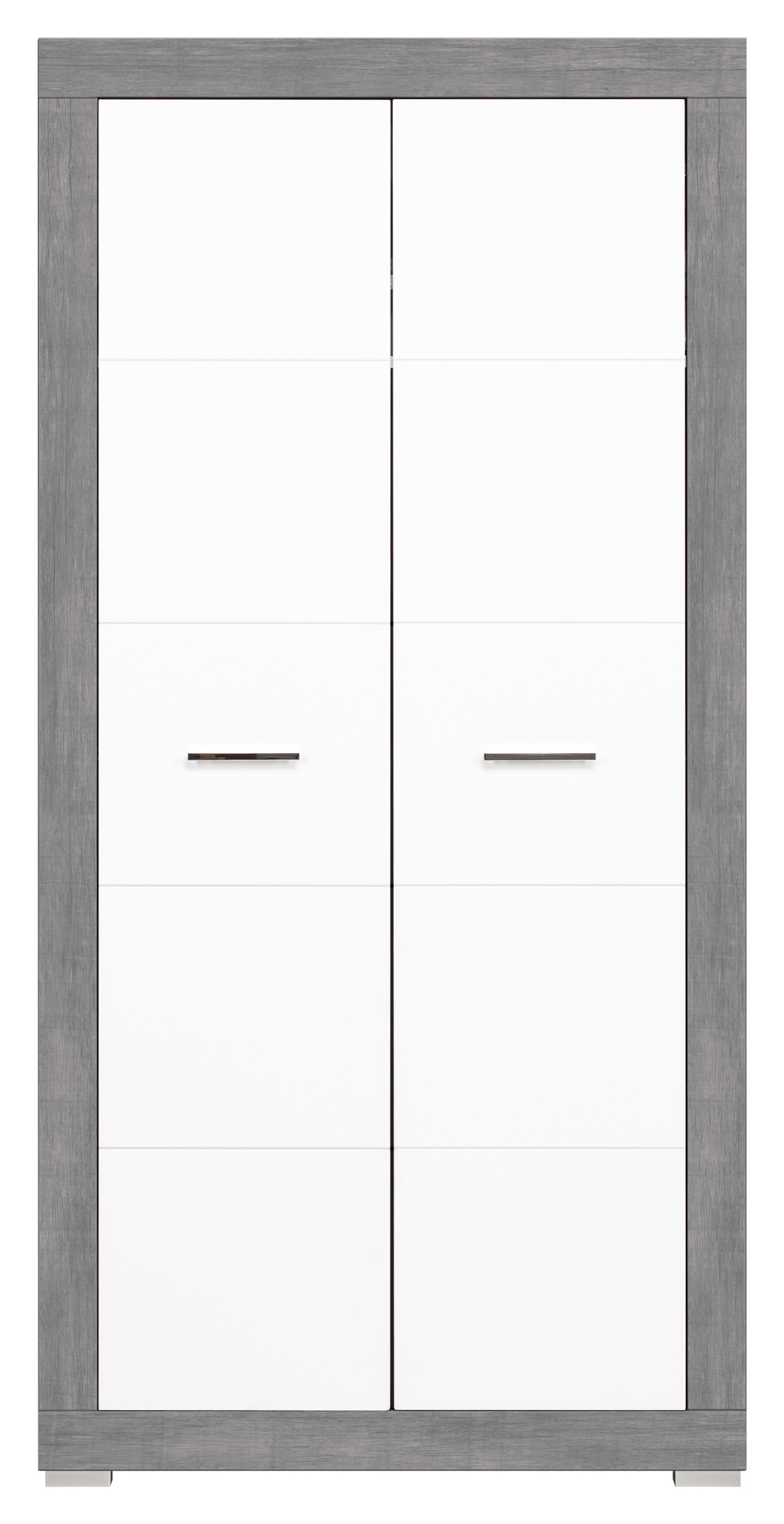 Šatní skříň - Bog Fran - Twin - TW 9 (šedá + bílá matná)
