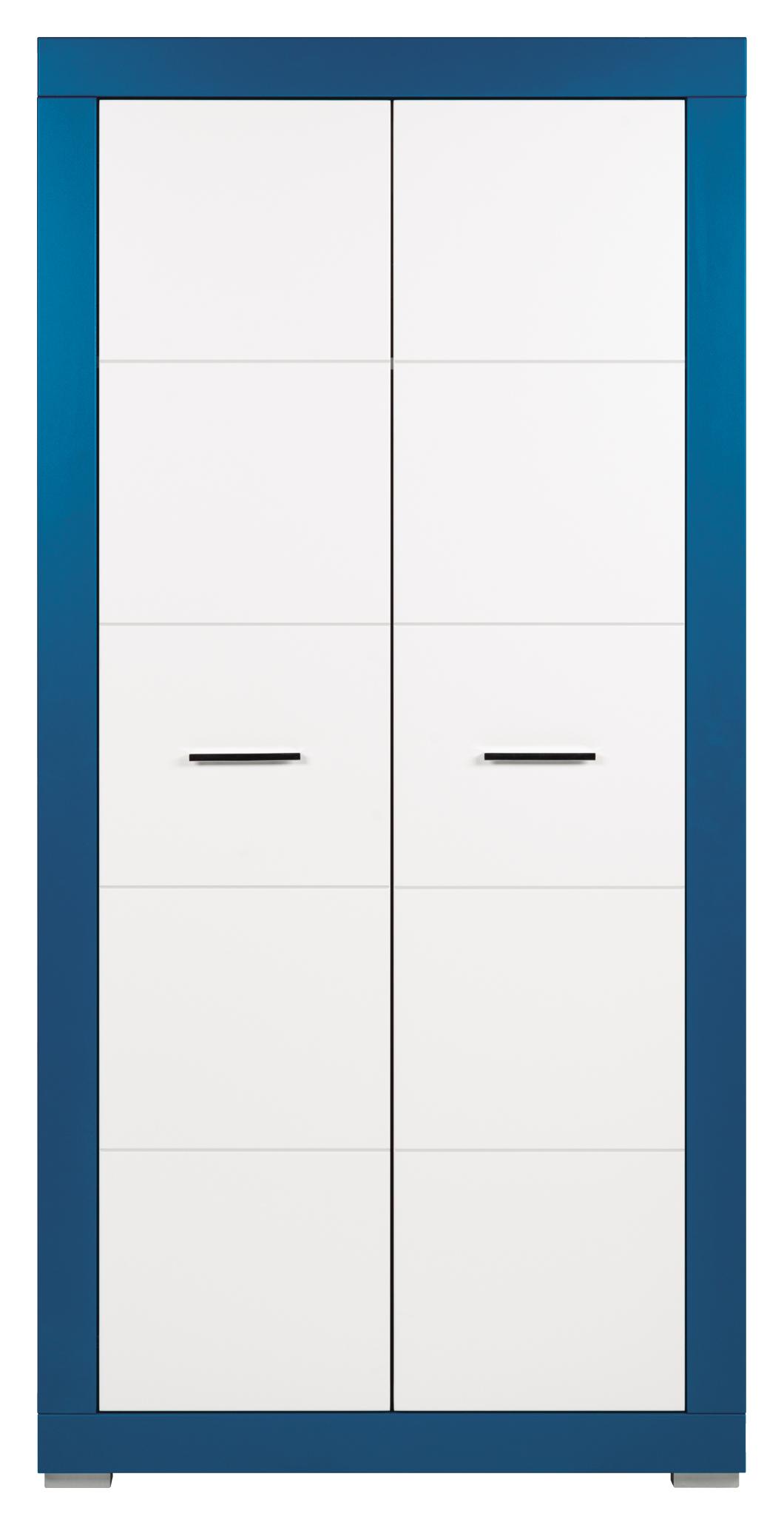 Šatní skříň - Bog Fran - Twin - TW 9 (tyrkysová + bílá matná)