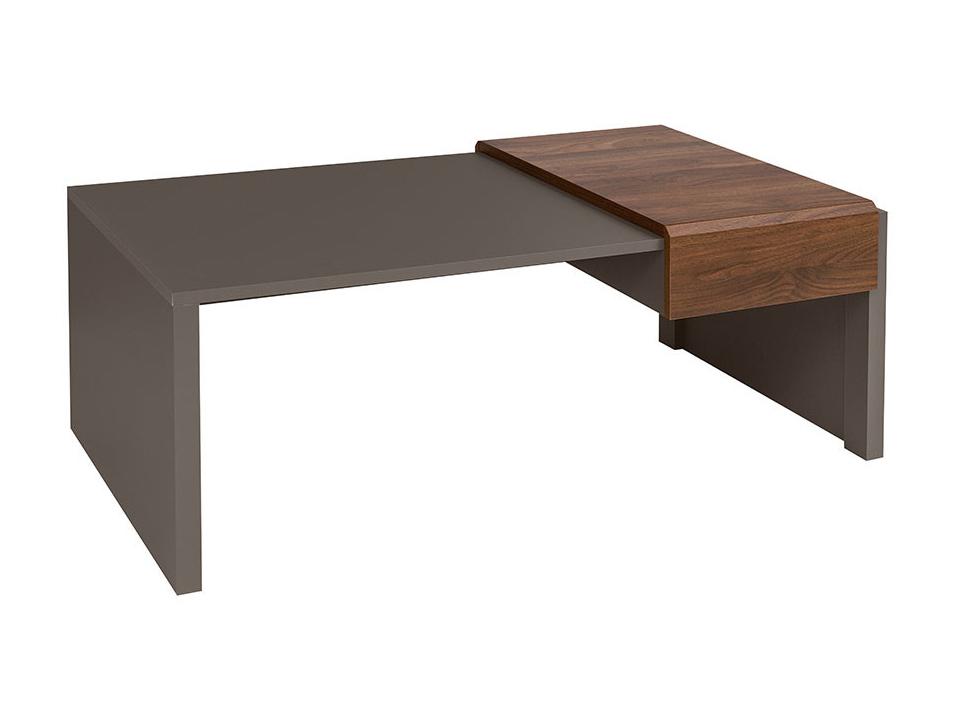 Konferenční stolek - BRW - Author - LAW2S/4/12 (Láva + Ořech Columbia)