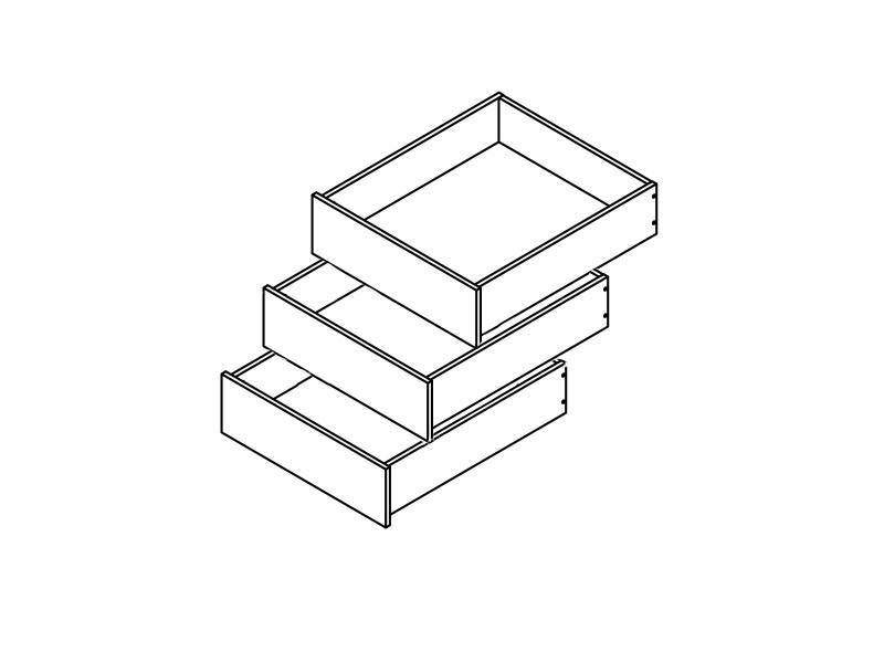 Zásuvky do skříně - BRW - Colin (3 ks.)