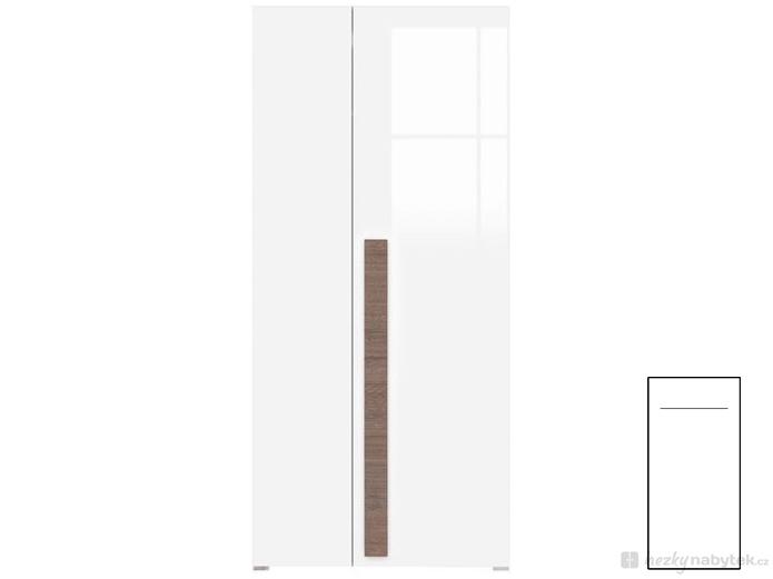 Šatní skříň - BRW - Domenica - SZF2D