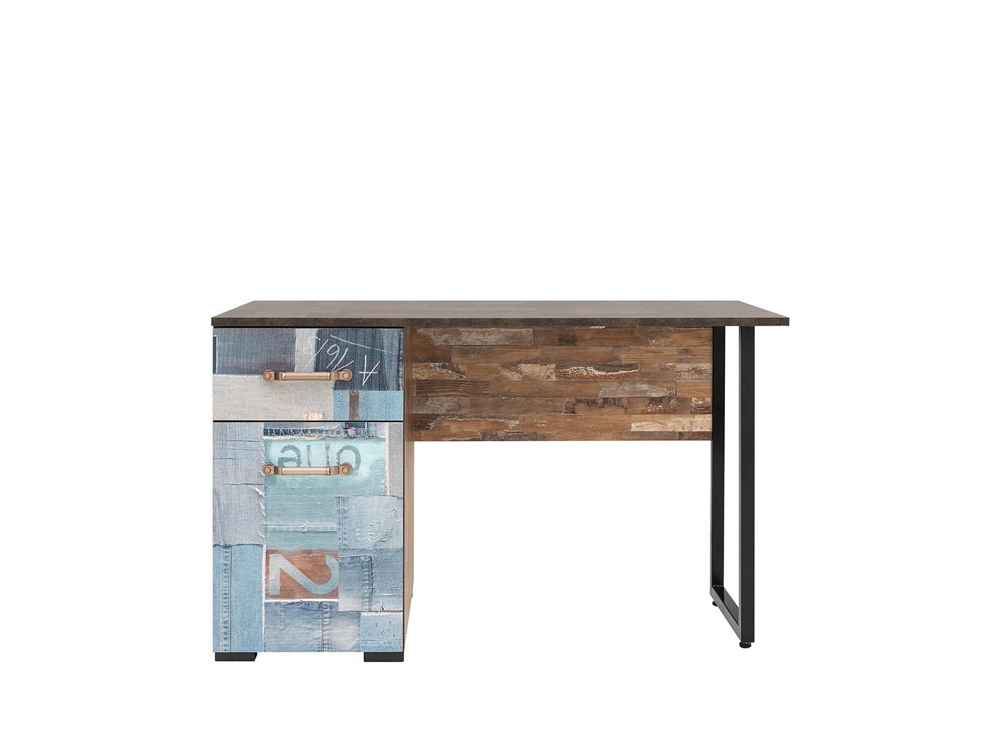PC stolek - BRW - Drago - BIU1D1S (vzor džíny)