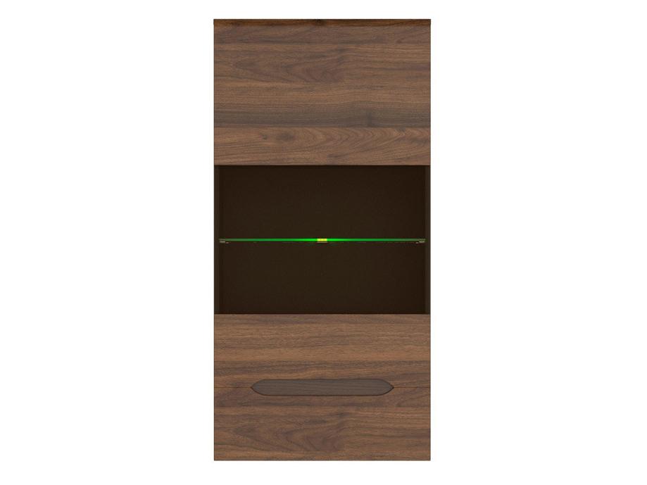 Vitrína na zeď - BRW - Elpasso - SFW1W (Šedý wolfram + Ořech kolumbie)