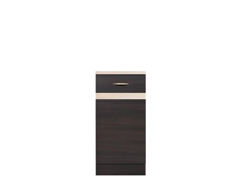 Spodní kuchyňská skříňka - BRW - Junona line - D1D/40/82/L (Wenge + Dub sonoma)