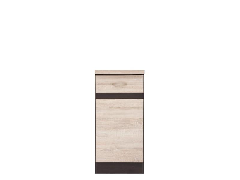 Spodní kuchyňská skříňka - BRW - Junona line - D1D/40/82/L (Dub sonoma + Wenge)