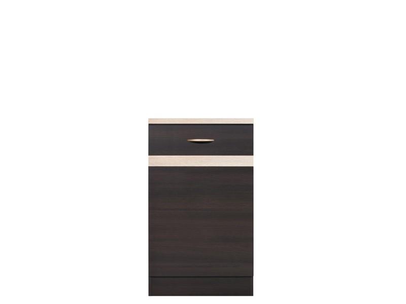 Spodní kuchyňská skříňka - BRW - Junona line - D1D/50/82/L (Wenge + Dub sonoma)