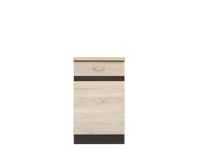 Spodní kuchyňská skříňka - BRW - Junona line - D1D/50/82/L (Dub sonoma + Wenge)