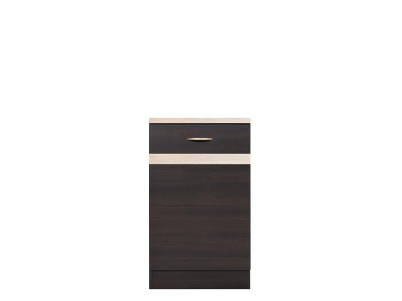 Spodní kuchyňská skříňka - BRW - Junona line - D1D/50/82/P (Wenge + Dub sonoma)
