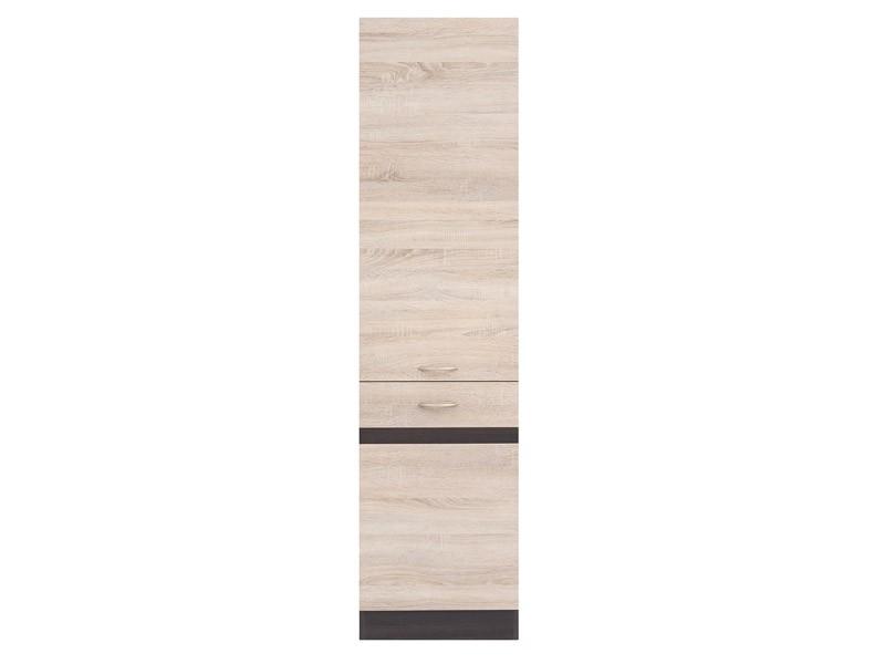 Potravinová kuchyňská skříň - BRW - Junona line - D2D/50/195/P (Dub sonoma + Wenge)