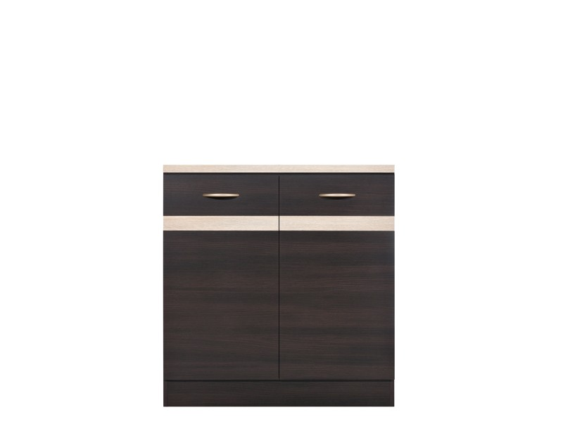 Spodní kuchyňská skříňka - BRW - Junona line - D2D/80/82 (Wenge + Dub sonoma)