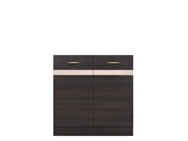 Spodní kuchyňská skříňka pod dřez - BRW - Junona line - DK2D/80/82 (Wenge + Dub sonoma)