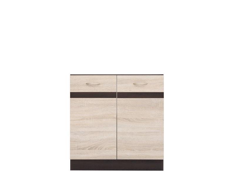Spodní kuchyňská skříňka pod dřez - BRW - Junona line - DK2D/80/82 (Dub sonoma + Wenge)