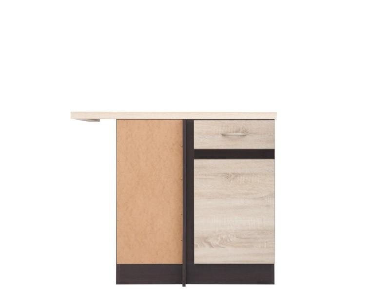 Spodní kuchyňská skříňka, rohová - BRW - Junona line - DNW/100/82/L (Dub sonoma + Wenge)