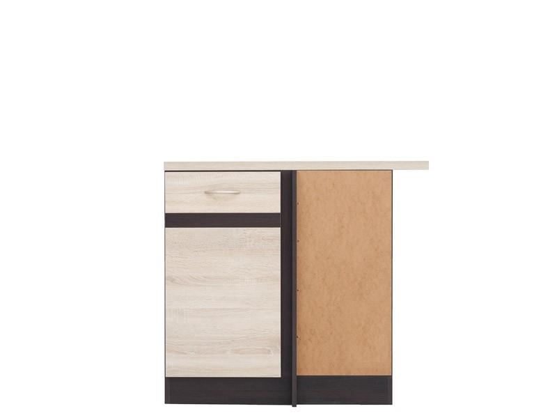 Spodní kuchyňská skříňka, rohová - BRW - Junona line - DNW/100/82/p (Dub sonoma + Wenge)