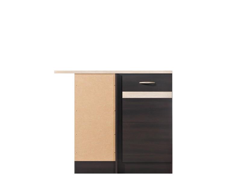 Spodní kuchyňská skříňka, rohová - BRW - Junona line - DNW/100/82/L (Wenge + Dub sonoma)