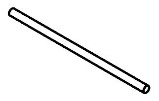 Tyč do šatní skříně 50 cm - BRW - Kamix - DR/50