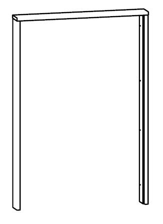 Krycí lišta do šatní skříně 146 cm - BRW - Kamix - SZF/150 LISTWA MASKUJACA