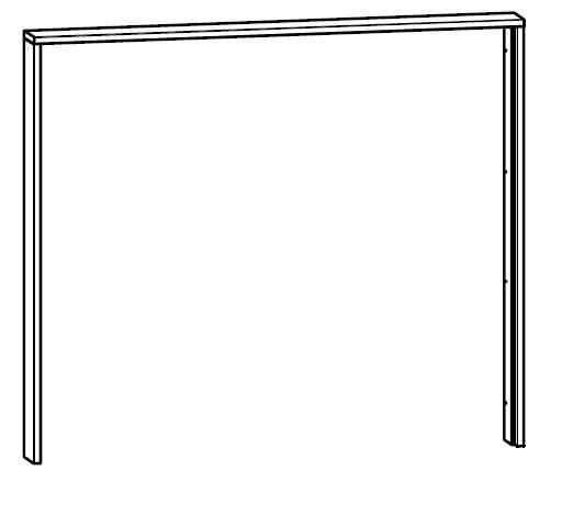 Krycí lišta do šatní skříně 240 cm - BRW - Kamix - SZF/240 LISTWA MASKUJACA