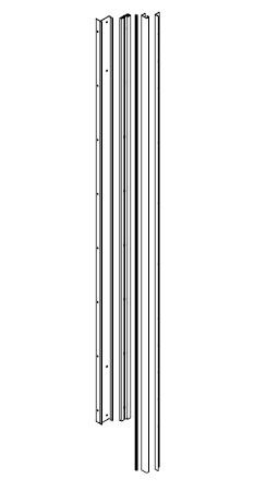 Vodící lišta do šatní skříně 146 cm - BRW - Kamix - SZF/150 LISTWY PROWADZACE