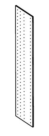 Dělicí deska do šatní skříně 194 cm - BRW - Kamix - PRZEGRODA PIONOWA