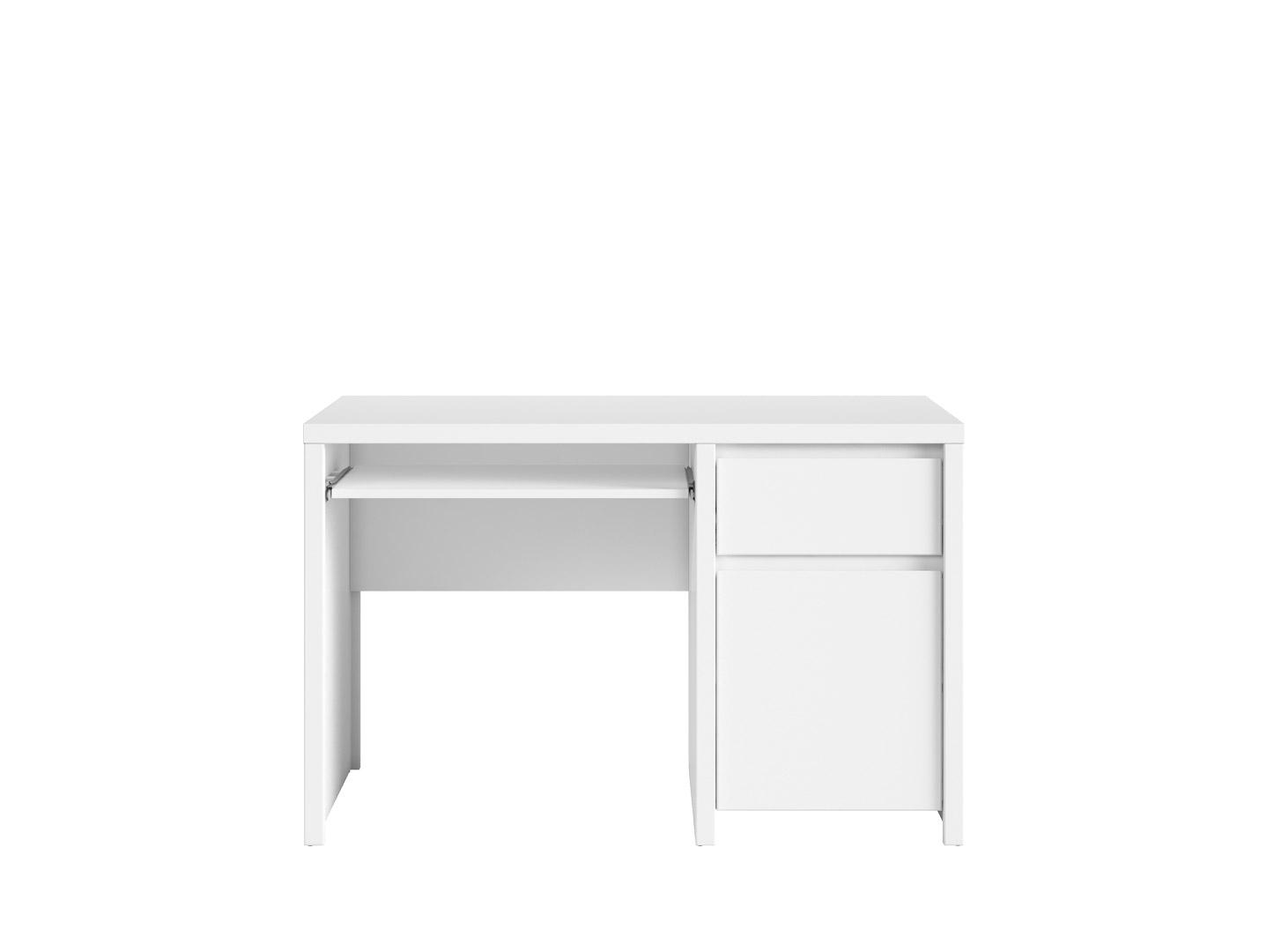 PC stolek - BRW - Kaspian - BIU1D1S/120 (bílá + bílá matná)